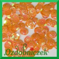 Cekiny kółka łamane 6mm 17g pomarańczowe opalizujące - f22
