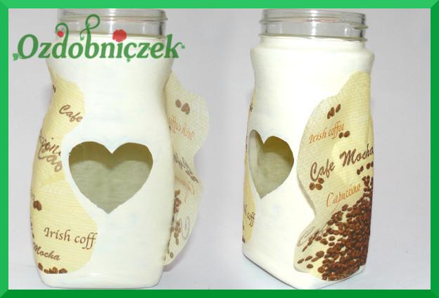 dekoracyjny słoik na kawę