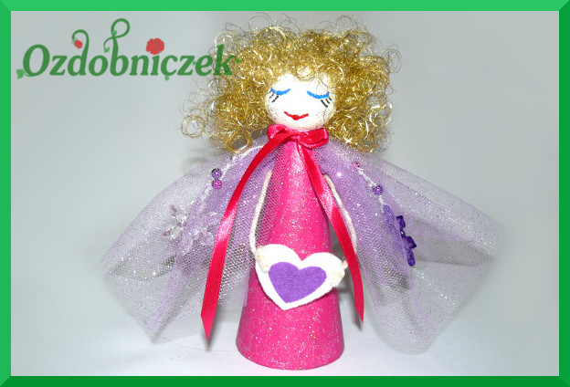 aniołek różowo-fioletowy