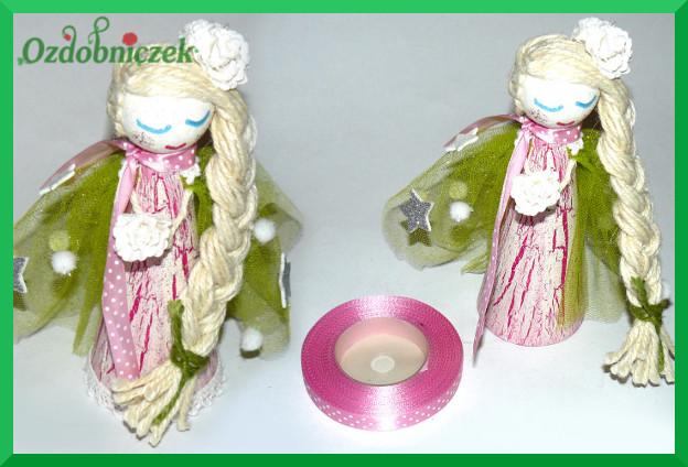 aniołek różowo-zielony