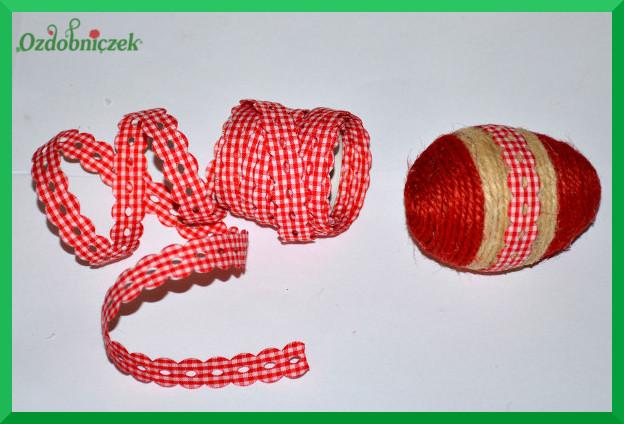 jajka wielkanocne ze sznurka jutowego
