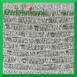 Taśma siatka ozdobna SREBRNA metalizowana/ 1m