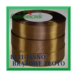 Wstążka tasiemka satynowa 25mm kolor jasne brązowe złoto 8131