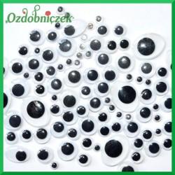 Oczy czarne mix rozmiarów i kształtów 100szt.