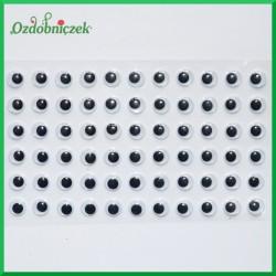 Oczy ruchome na blistrze 6mm DZ13