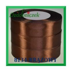 Wstążka tasiemka satynowa 25mm kolor brązowy 8134