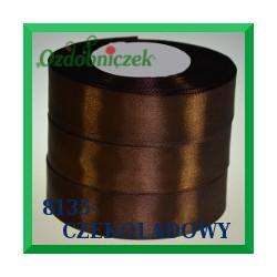 Wstążka tasiemka satynowa 25mm kolor czekoladowy 8135