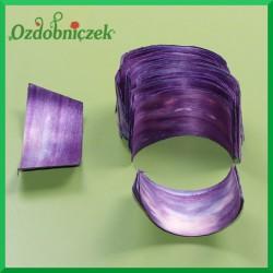 Elementy do złożenia rożka 100szt. małe fioletowe