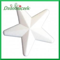Gwiazda styropianowa duża 20 cm