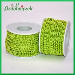 Sznurek oplatany 3 mm jasny zielony