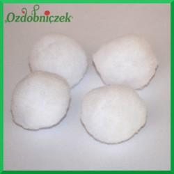 Pompony 50 mm białe