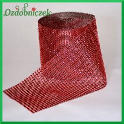 Taśma diamentowa ozdobna czerwona