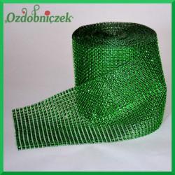 Taśma diamentowa ozdobna zielona