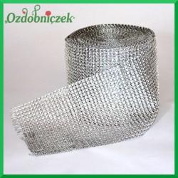 Taśma diamentowa ozdobna srebrna