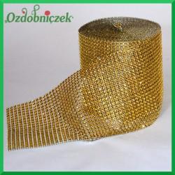 Taśma diamentowa ozdobna złota