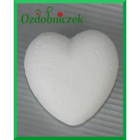 Serce styropianowe duże 8cm wypukłe