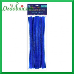 Druciki kreatywne ciemno niebieskie matowe 25szt