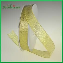 WSTĄŻKA brokatowa złota 18mm
