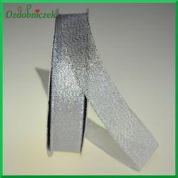 WSTĄŻKA brokatowa srebrna 18mm