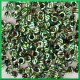 Cekiny srebrne w zielone paski 12g/850szt.