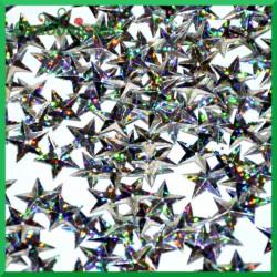Cekiny gwiazdki laserowe srebrne wypukłe