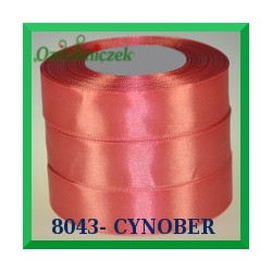 Wstążka tasiemka satynowa 6mm kolor cynober 8043