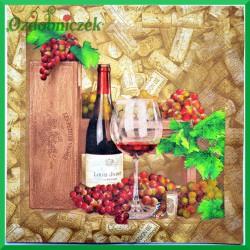 Serwetka do decoupage wino