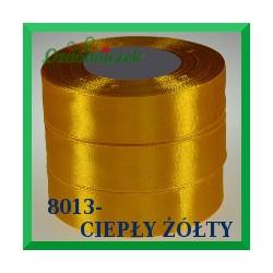 Tasiemka satynowa 12mm kolor ciepły żółty 8013