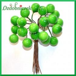 Jagódki na druciku -  kolor zielony
