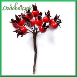 Dzika róża na druciku 12szt. czerwona