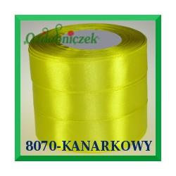 Tasiemka satynowa 12mm kolor zielono żółty 8070