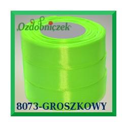Tasiemka satynowa 12mm kolor neonowy zielony 8073