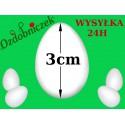 Jajko styropianowe 3 cm  IMPORT