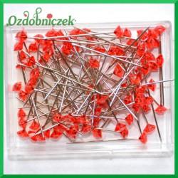 Szpilki diamentowe małe czerwone