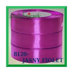 Wstążka tasiemka satynowa 12mm kolor jasny fiolet 8120