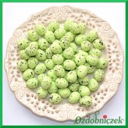 Jajeczka nakrapiane zielone 2 cm 100 szt