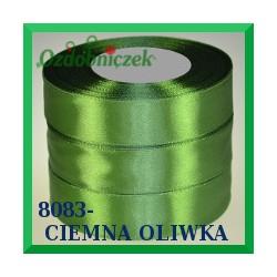 Tasiemka satynowa 12mm kolor ciemna oliwka 8083