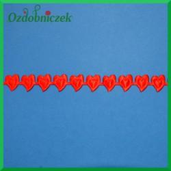 Serduszka wytłaczane czerwone ROLKA 9mb