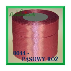 Tasiemka satynowa 25mm kolor pąsowy róż 8044