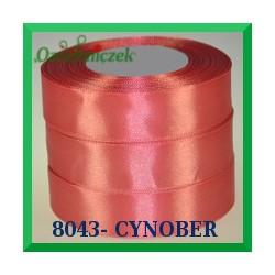 Wstążka tasiemka satynowa 25mm kolor cynober 8043