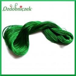 Sznurek metalizowany w motku 1mm/100mb zielony