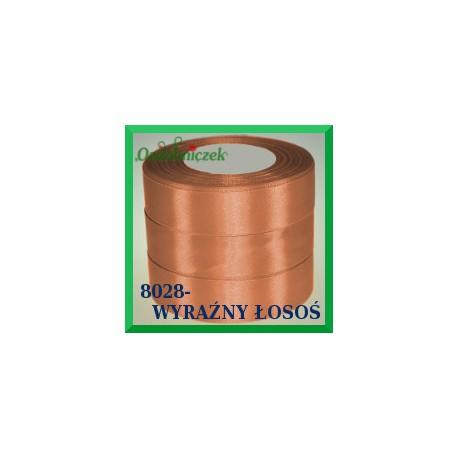 Tasiemka satynowa 25mm kolor wyraźny łosoś 8028