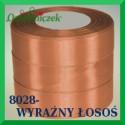 Wstążka tasiemka satynowa 25mm kolor wyraźny łosoś 8028