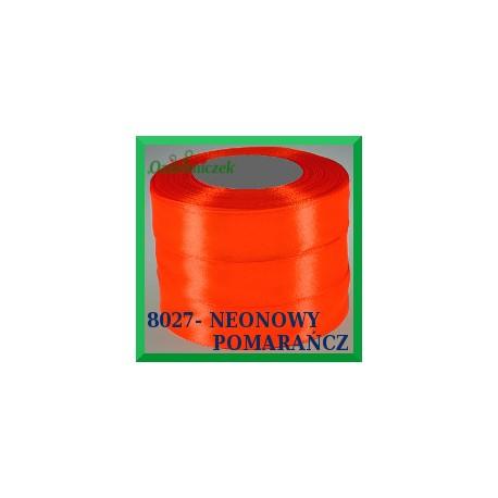Tasiemka satynowa 25mm kolor orange 8027