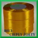 Wstążka tasiemka satynowa 25mm kolor ciepły żółty 8013