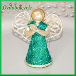 Aniołek 5cm zielony 3223