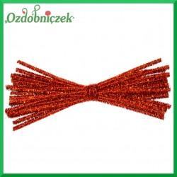 Druciki kreatywne metalizowane 20szt. 30cm pomarańczowe