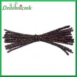 Druciki kreatywne metalizowane 20szt. 30cm brązowe