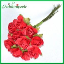 BORDOWE Różyczki papierowe 1cm 12szt.