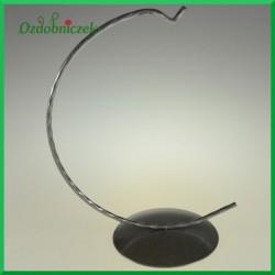 Stojak na jajko srebrny 15cm WIESZAK